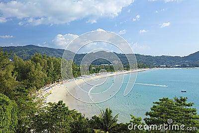 Vista aérea de la playa de Kamala