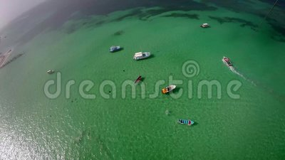 Vista aérea del océano almacen de video