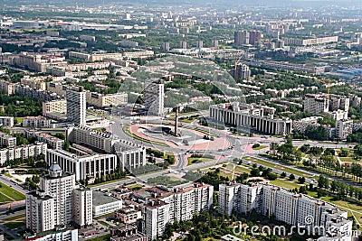 Vista Aerea Del Distretto Di San Pietroburgo Russia Di