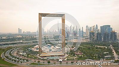 Vista aerea del telaio del Dubai archivi video
