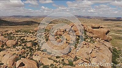 Vista aerea dell'affioramento del granito - Sudafrica video d archivio