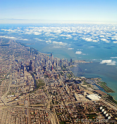 Vista aerea di Chicago, Illinois