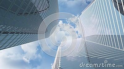 Vista agli edifici per uffici del highrise