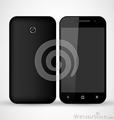 Smartphone nero comune