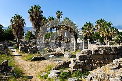 Vista antica dell agora