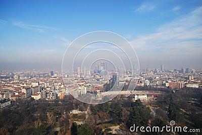 Vista aérea de Milão