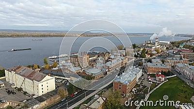 Vista da altura da cidade grande video estoque