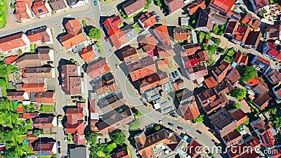 Vista de cima da arquitetura tradicional da cidade, matera, itália, movimento popular cronológico filme