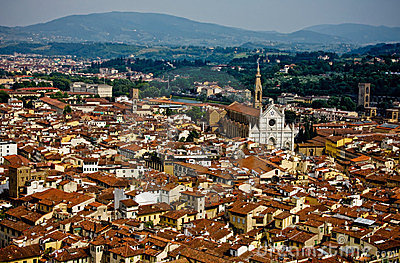 Vista de Firenze da abóbada
