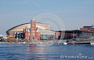 Vista de la bahía de Cardiff