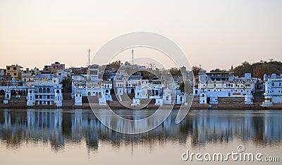 Vista de la ciudad de Pushkar