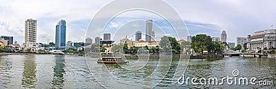 Vista de la ciudad de Singapur Fotografía editorial