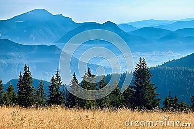 Vista de las montañas eslovacas