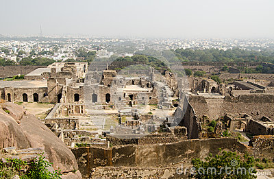 Ruinas de Golcanda, la India