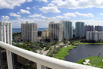 Vista del balcone nel terreno da golf di Miami