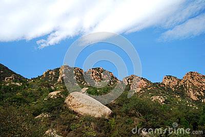 Vista del valle de la montaña