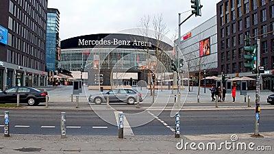 Vista dello stadio Mercedes Benz Arena di Berlino, Germania - 28 gennaio 2019 archivi video
