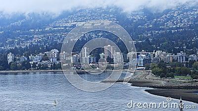 Vista di Timelapse di Vancouver del nord, Canada 4K archivi video