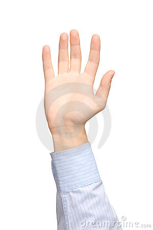Vista di una mano sollevata