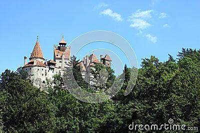 Vista do castelo famoso do farelo