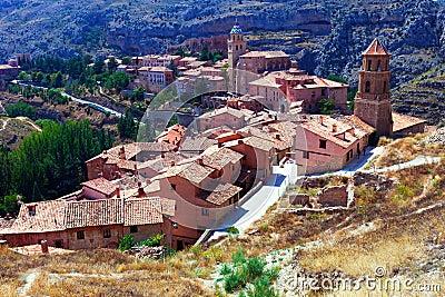 Vista generale di Albarracin