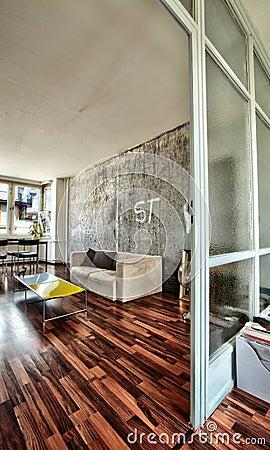 Sala de estar del apartamento de Berlín