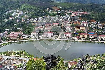 Vista superior de Sapa, Vietnam