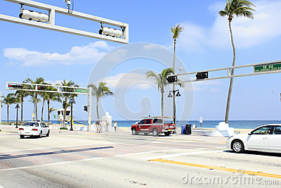Vistamar Street at SR A1A Editorial Stock Photo