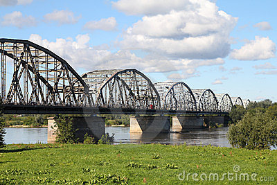 Vistula river bridge