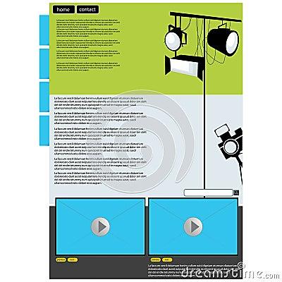 Visual art web page layout