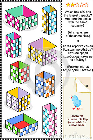 Visual math puzzle or problem