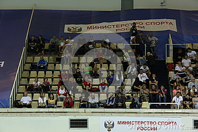 Visual places in the swimming pool Olympic in Moscow Editorial Stock Image