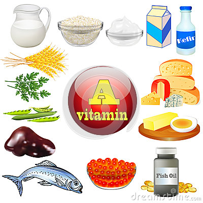 Free Vitamin A And Plant And Animal Products Stock Image - 39925501