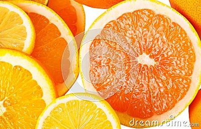 Vitamin C Overload, Stacks of sliced fruit