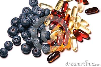 Vitamine und Blaubeeren