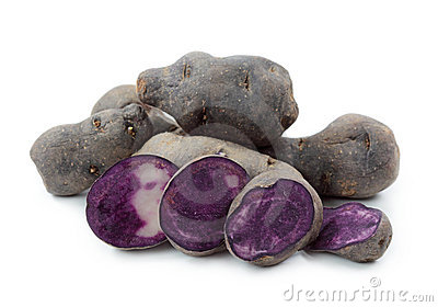 Vitelotte blue-violet potato