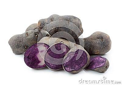 Vitelotte blue-violet potato