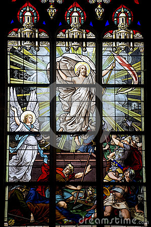Free Vitré, Brittany, Stained Glass Royalty Free Stock Photo - 26833835