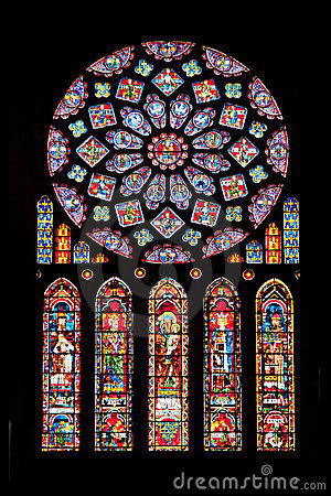 Vitrages of Chartres cathedral