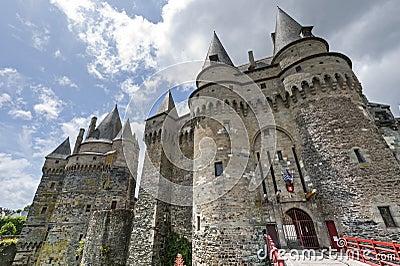 Vitre, Bretagne, Schloss