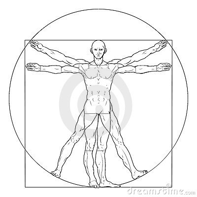Vitruvian man Editorial Photography