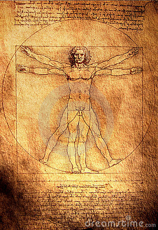 Vitruvian Man Editorial Stock Photo