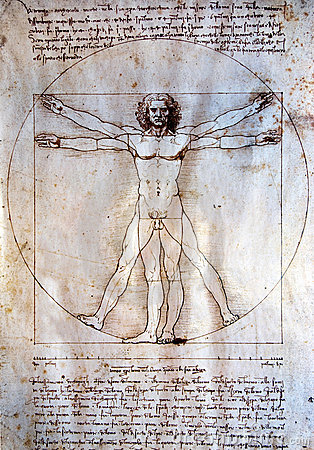 Vitruvian man - Leonardo Da Vinci Editorial Stock Photo