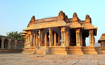 The Vittala Temple Ruins, Hampi Royalty Free Stock Image - Image: 12498766