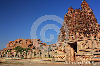 Vittala (Vitthala) Temple in Hampi, India.