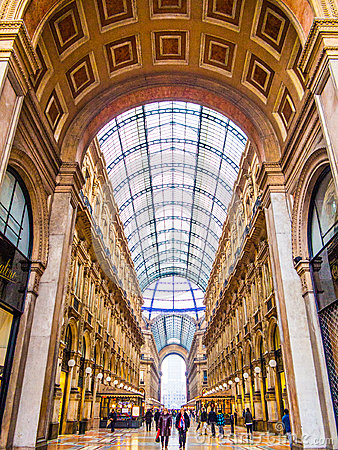 Vittorio Emanuele Galleries, Milano Immagine Stock Editoriale