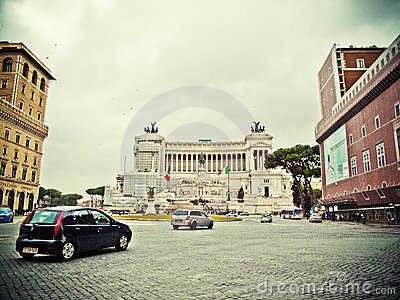 Vittorio Emanuele II plaza Editorial Stock Photo