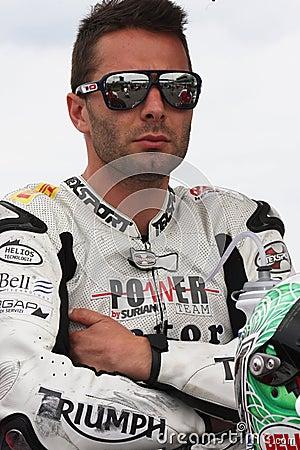 Vittorio Iannuzzo Triumph Daytona Suriano Editorial Photo