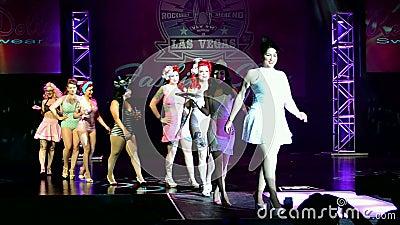 Viva Las Vegas Fashion Show 2016, Las Vegas, USA, stock video