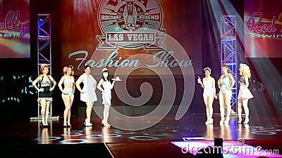 Viva Las Vegas Fashion Show 2016, Las Vegas, USA, stock footage